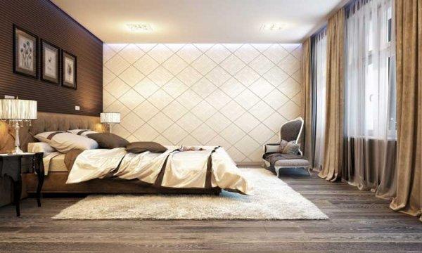 ламинат в дизайне спальной